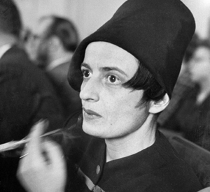 Ayn Rand with cancer stick